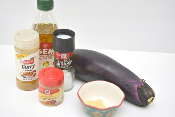 air frier curried eggplant