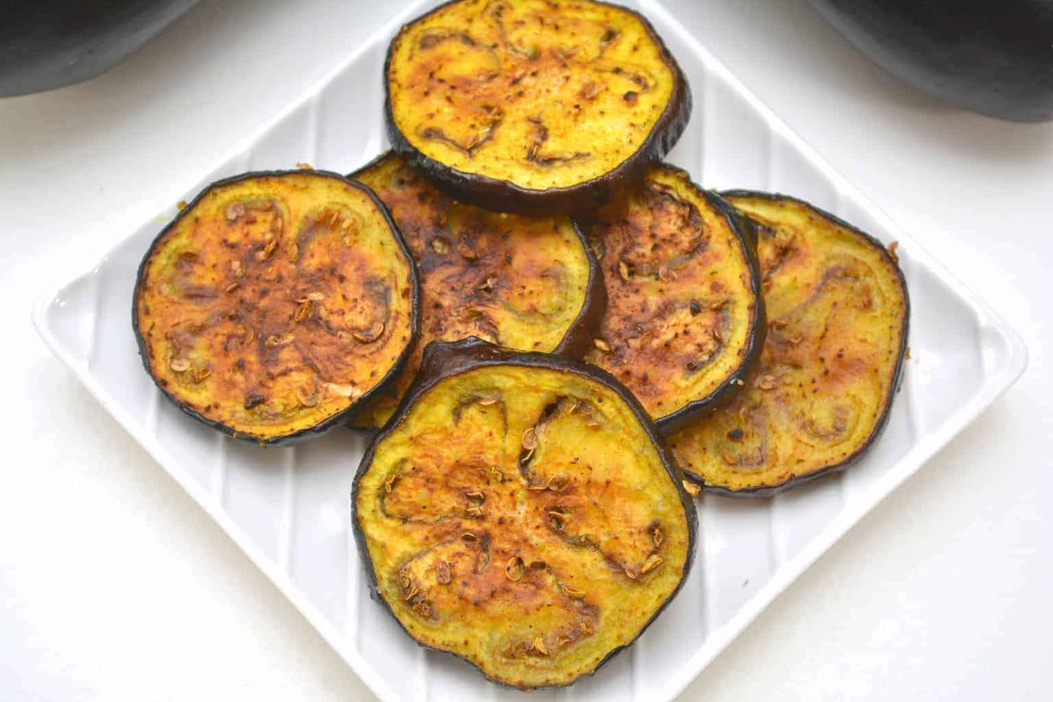 Curried Air Fryer Eggplant