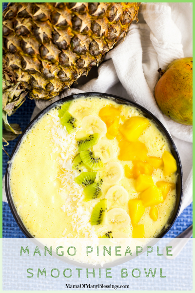 Mango Pineapple Smoothie Bowl Pinterest