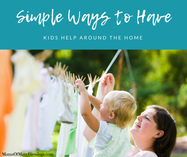 Simple Ways to Have Kids Help Around the Home Facebook