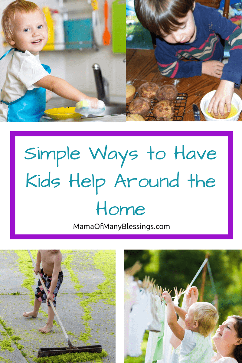 Having trouble getting your children to help around the house with chores? Here are some simple ways to have kids help around the home that will make it easy.