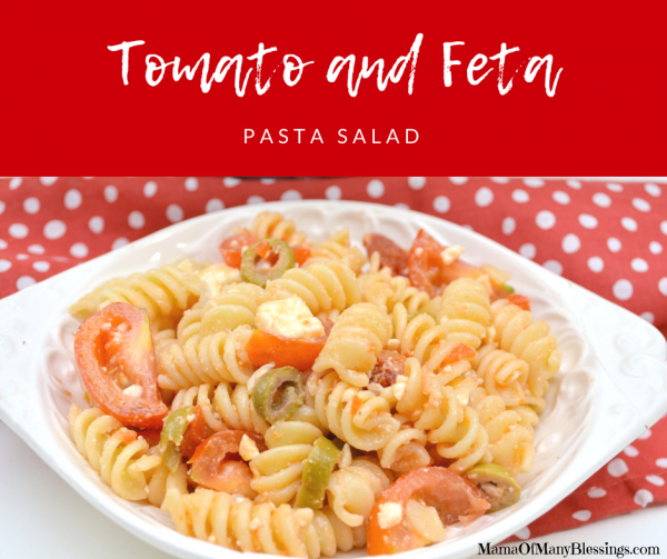 Tomato and Feta Pasta Salad with Sun Dried Tomato Dressing Facebook