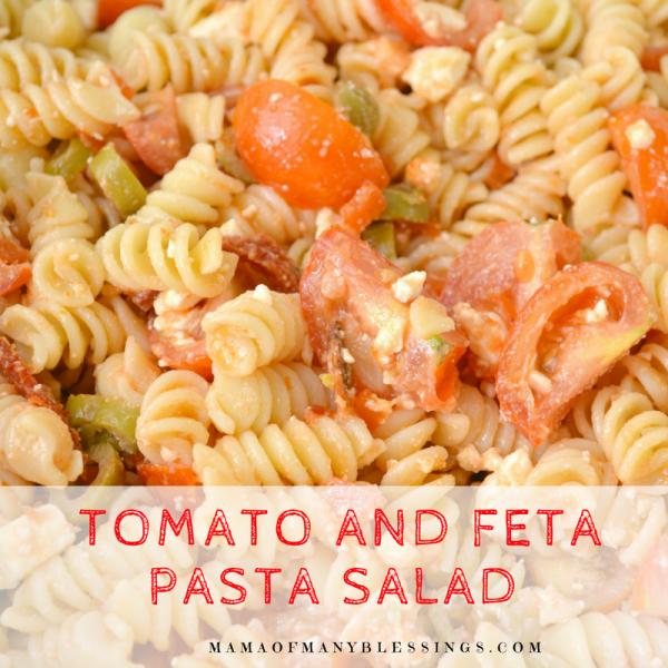 Tomato and Feta Pasta Salad with Sun Dried Tomato Dressing Square