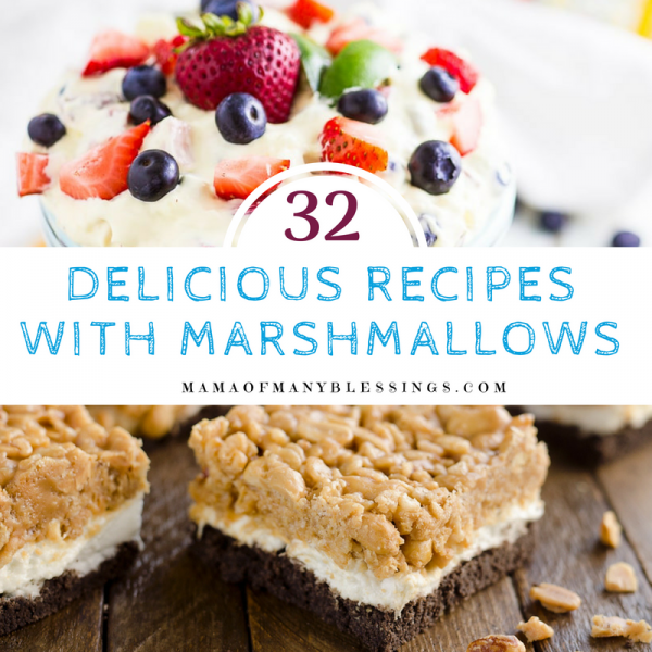 32 Simply Delicious Recipes Using Marshmallows Square