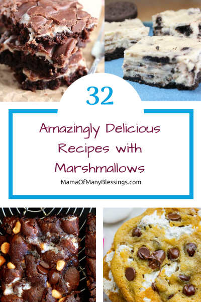 32 Simply Delicious Recipes Using Marshmallows Pinterest