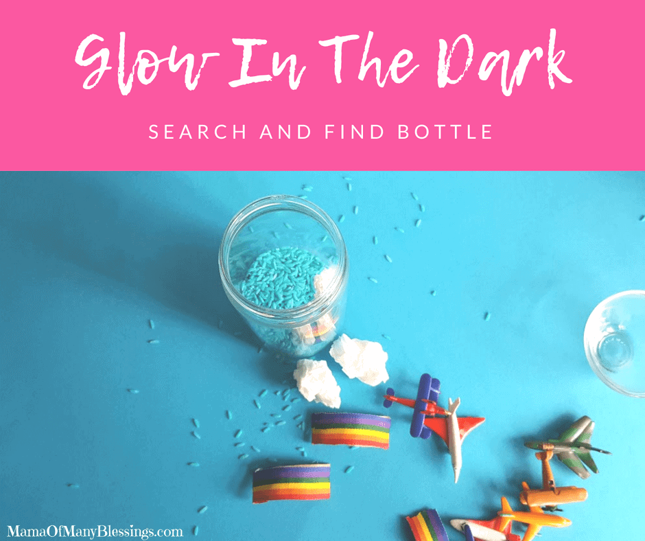 Glow In the Dark Search and Find Bottle Facebook