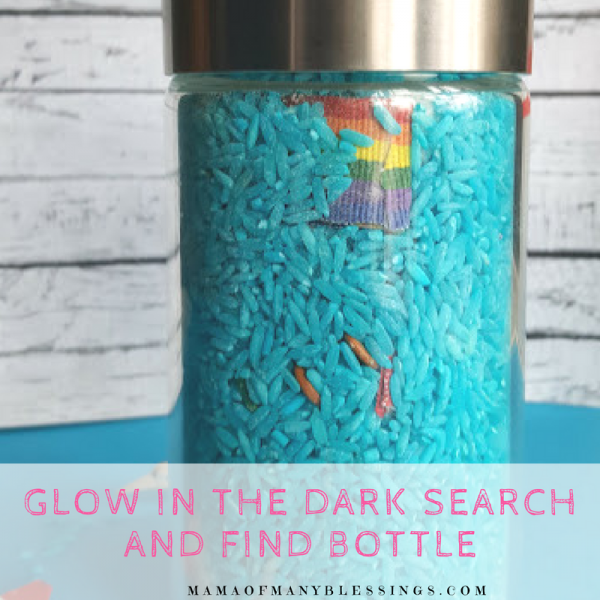 Glow In the Dark Search and Find Bottle Square