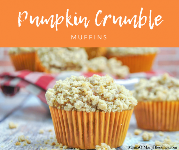 Pumpkin Crumble Muffins Facebook