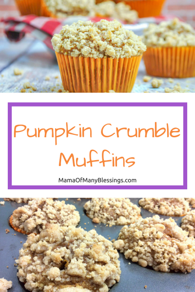 Pumpkin Crumble Muffins Pinterest