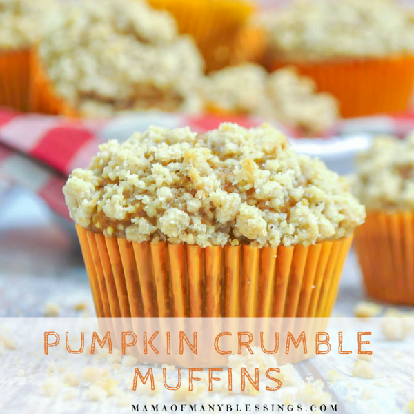 Pumpkin Crumble Muffins Square