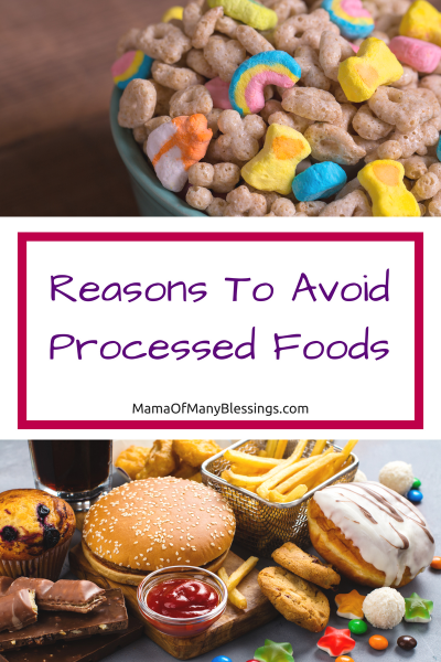 Reasons To Avoid Processed Foods Pinterest
