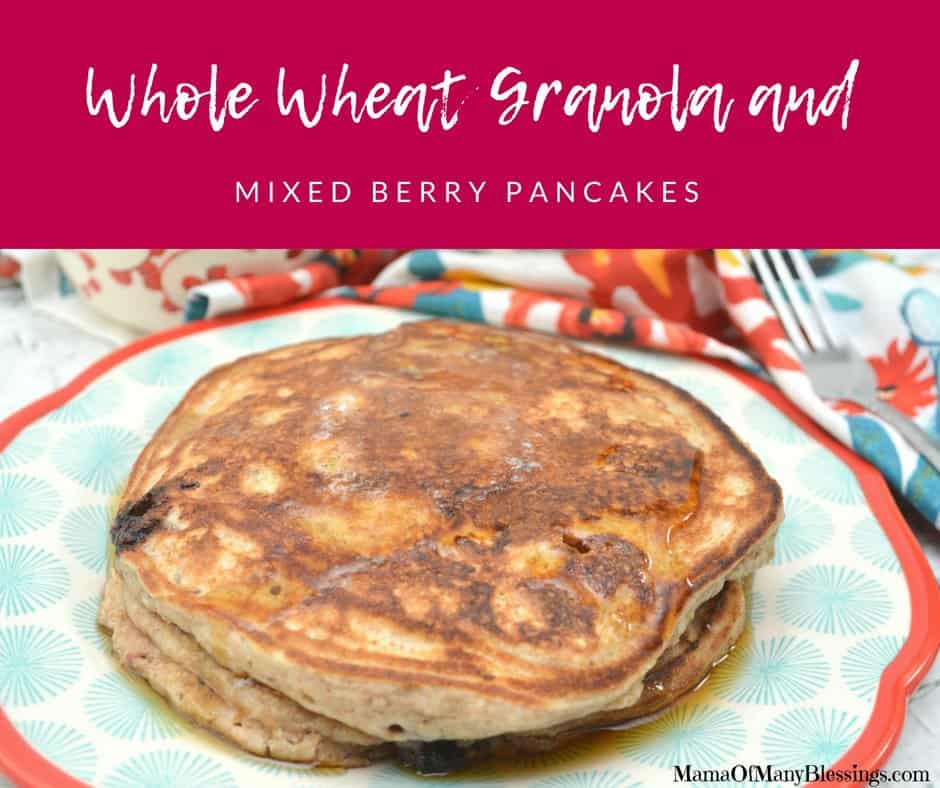 Whole Wheat Granola and Mixed Berry Pancakes Facebook