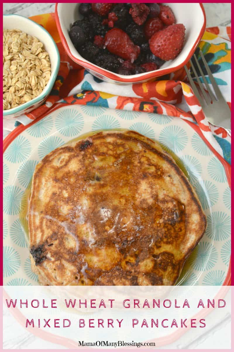Just like old-fashioned pancakes with just a few extra ingredients in. No overabundance of sugar and applesauce is used as more of a natural sweetener.