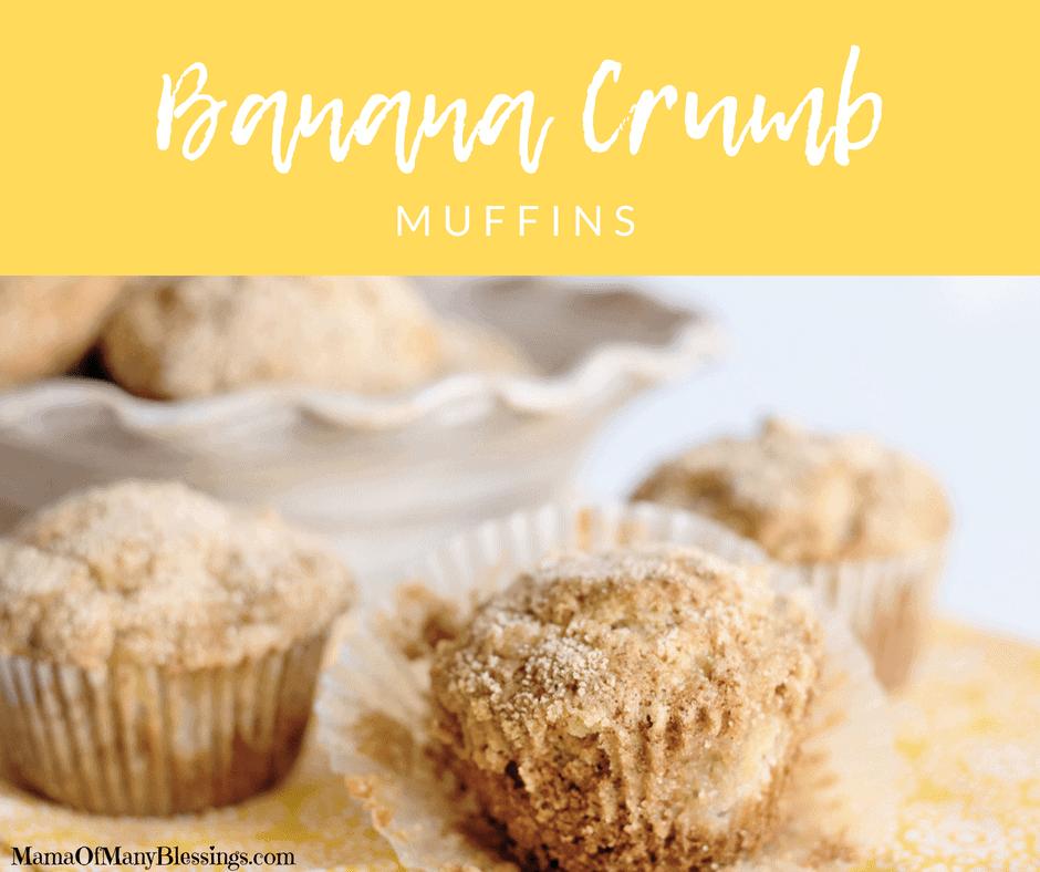 Banana Crumb Muffins Facebook