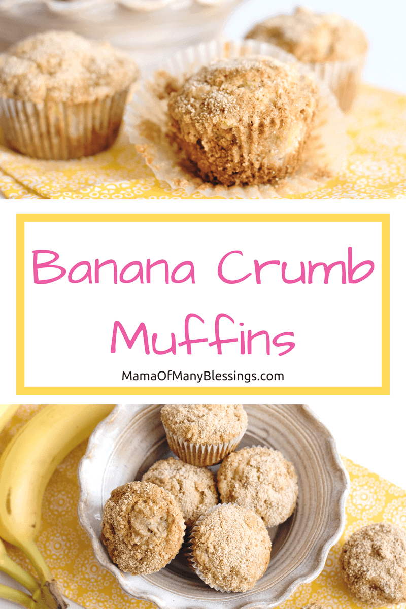 Not only are these Banana Crumb Muffins amazingly delicious, I love that they are easy to grab and go as well. Perfect for those busy mornings!