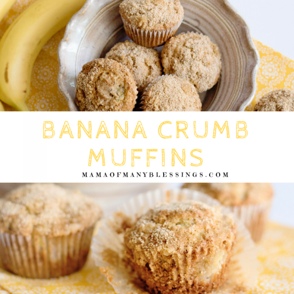 Banana Crumb Muffins Square