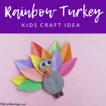 Colorful Turkey Kids Craft Idea