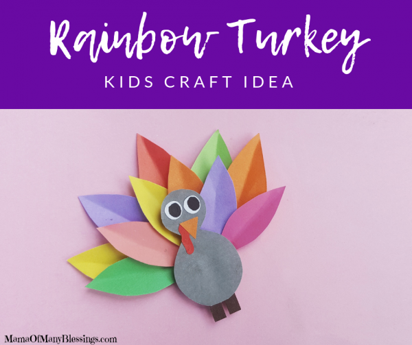 Colorful Turkey Kids Craft Idea Facebook
