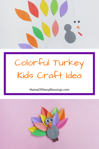 Colorful Turkey Kids Craft Idea Pinterest