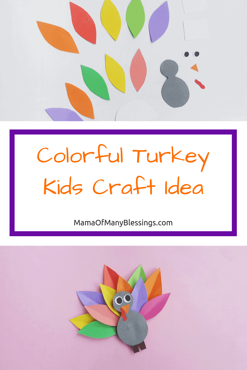 If you've been on the hunt for a colorful turkey kids craft idea or a super fun kids fall paper craft, look no further than this craft idea! The steps are simple, but the outcome is truly magical. 