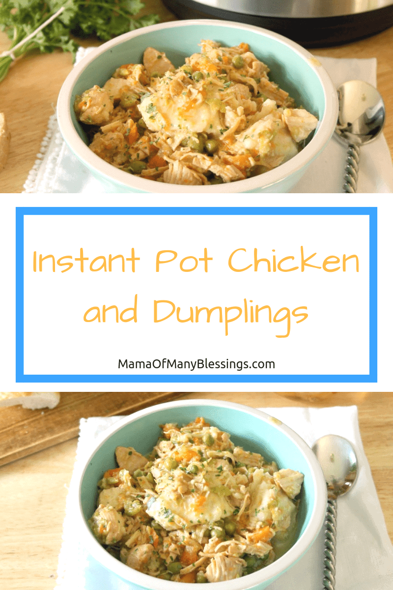 Instant pot chicken and dumplings is the perfect delicious recipe to make for your family. Making it in the instant pot makes the recipe super easy to make!  #recipe #instantpot
