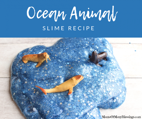 Ocean Slime Recipe with Animals