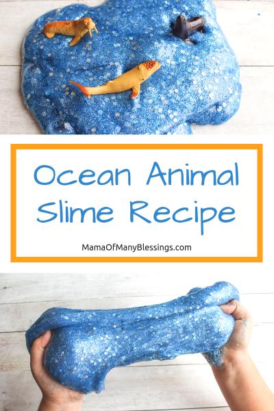 Ocean Animal Slime Recipe Pinterest