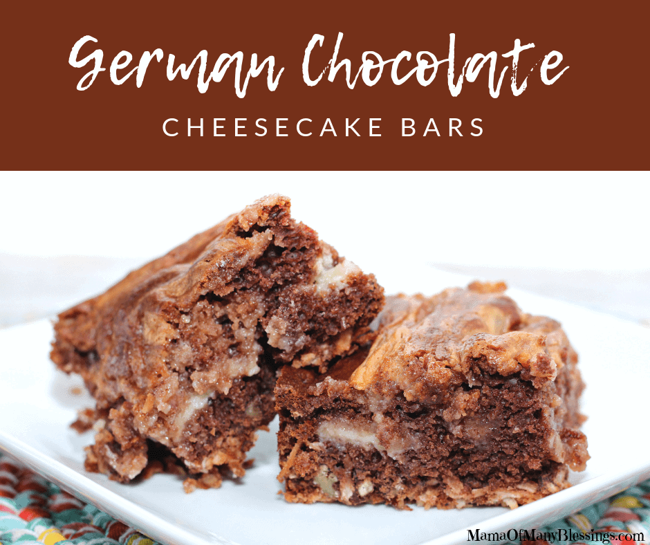 German Chocolate Cheesecake Bars Facebook