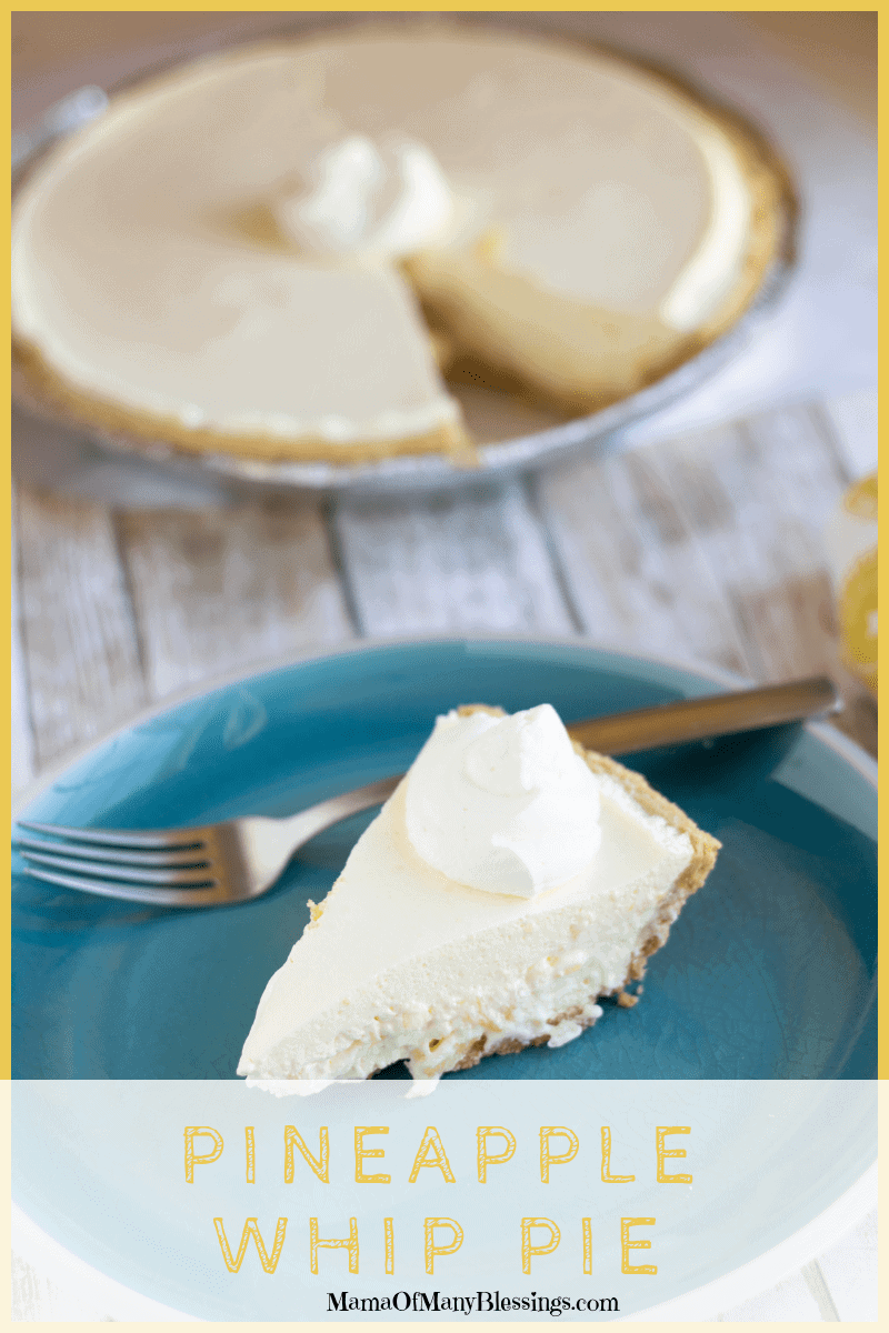 We love to eat pineapple all year round, and this Pineapple Whip Pie is one of the reasons why! It is a true winner in our house for youngest to oldest.