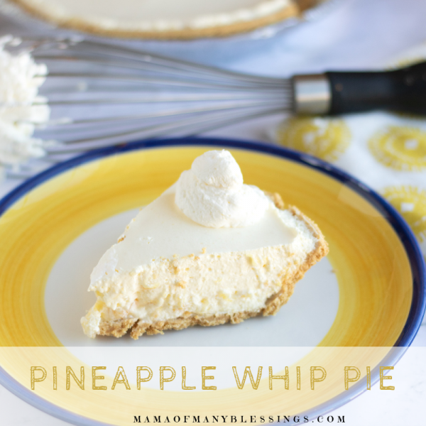 Pineapple Whip Pie Square