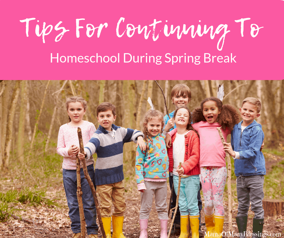 Tips For Continuing To Homeschool During Spring Break Facebook
