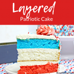 Layered Patriotic Cake