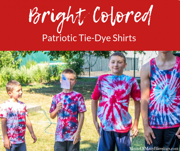 Brightly Colored Patriotic Tie-Dye T-Shirts