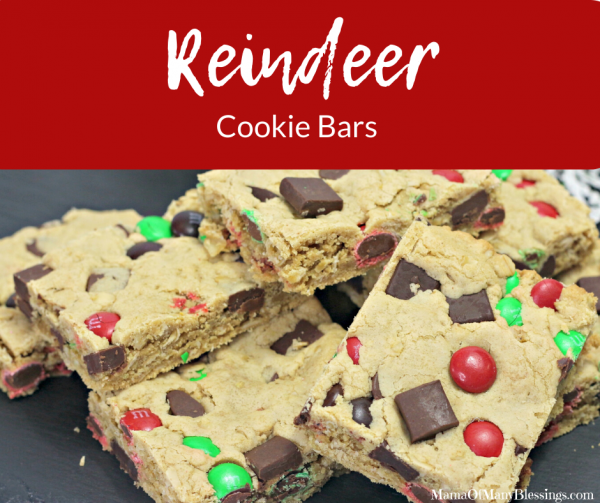 Reindeer Cookie Bars
