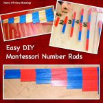 Easy DIY Montessori Number Rods